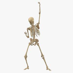 3D model Real Human Female Skeleton Pose 75