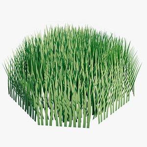 3D grass nature plant model