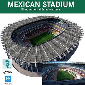 mexican stadium azteca 3D model