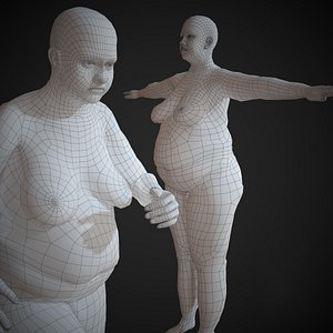 3D base mesh basemesh model