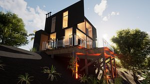 3D model Revit Modern Beach house