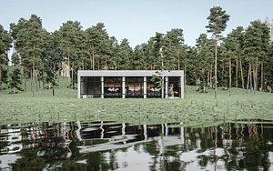 scene luxury restaurant interior 3D model