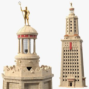 3D Lighthouse of Alexandria Tower model