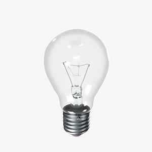 Incandescent Light Bulb 3D