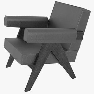3D capitol complex armchair jeanneret model