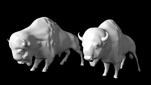 3D buffalo female male