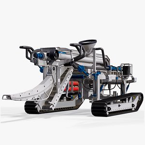 3D Underwater Cable Trencher T2 Vehicle PBR
