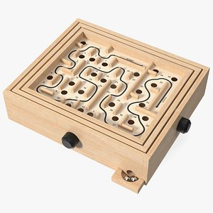 3D Wooden Maze Game with Steel Marbles