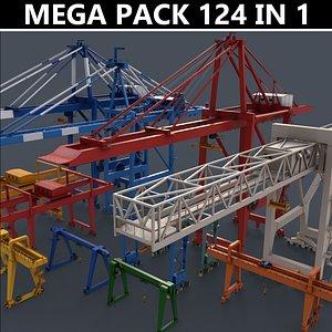 PBR Gantry Cranes - Mega Pack 3D