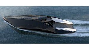 3D model Boat L30 Bat Black