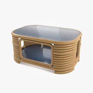 3D rattan table model