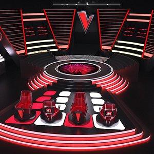 The Voice Tv Studio 2 3D model