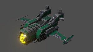sci-fi fighter ship v3 3D model