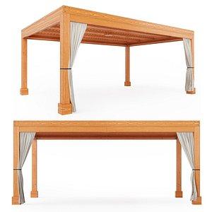 Modern Fat Timber Pergola - Forever Redwood