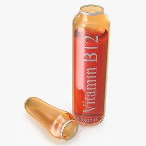 vitamin b12 2ml amber 3D