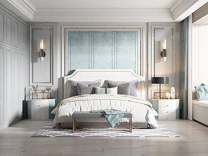 3D model Modern Style Bedroom - 515