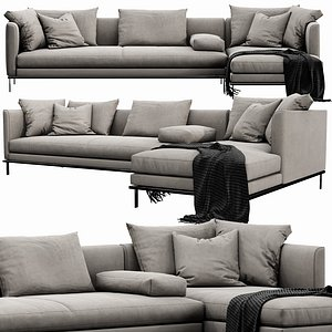 3D Linteloo Relax Chaise Lounge model
