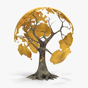 3D tree globe
