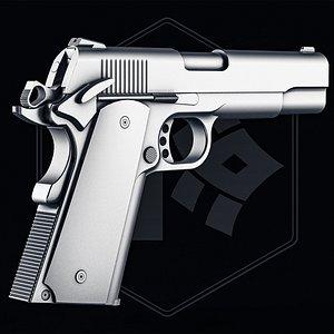 3D Colt 1911 Pistol Untextured Version model
