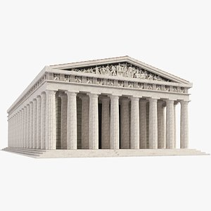 temple greek parthenon 3D