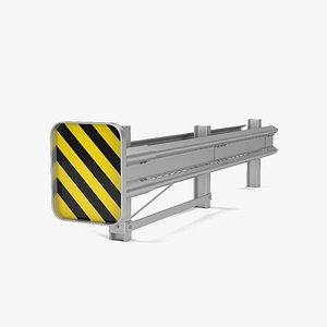 3D guardrail barrier