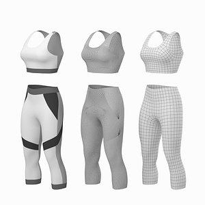 woman sportswear base mesh 3D model