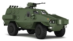 3D model light vehicle armored