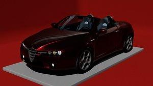 3D Rigged Alfa Romeo BreraSpider With Basic Interior model