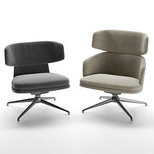 molteni armchair 3D model
