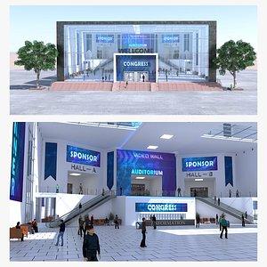 3D Congress hall event model