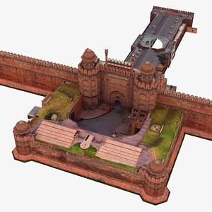 3D red fort india