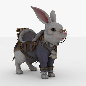 3D Rabbit Rigged and Animated