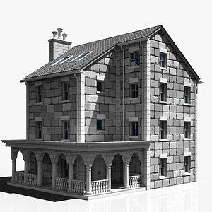 3D mansion building model
