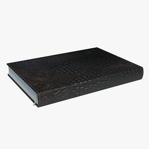 notepad leather crocodile 3D model
