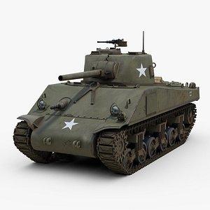 M4 Sherman Tank 3D model