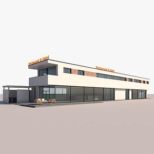 3D Industrial Building 03 model