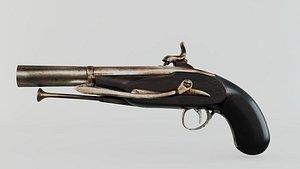 3D OLD GUN 3ds max