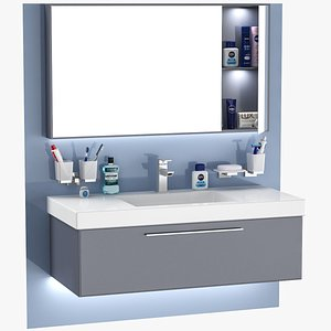 3D sink unit set model