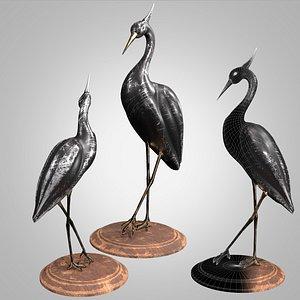 3D stork black