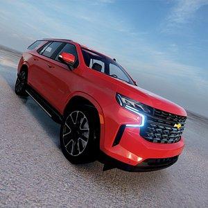 3D model Chevrolet Tahoe RST 2021 3D