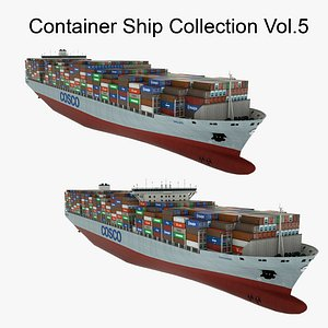 3D model Container Ship Collection Vol.5