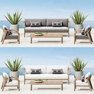 3D model outdoor furniture malta teak