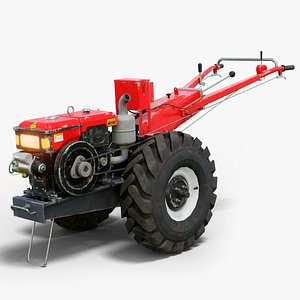 3D garden tractor gameready ar model