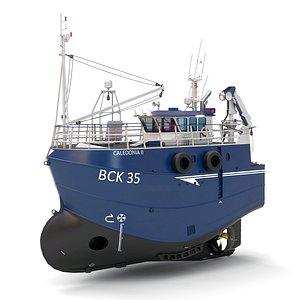 Fishing Trawler 3D model 3D