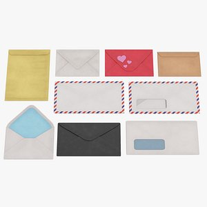 3D envelope paper mail