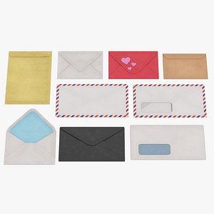3D envelope paper mail