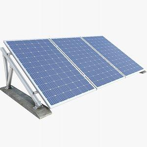 3D Solar Panel 1 With PBR 4K 8K model