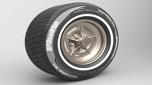3D model Classic Realistic Tire 1