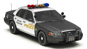 3D Car Police 9 model