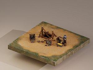 3D Iron Mine Level 1 model